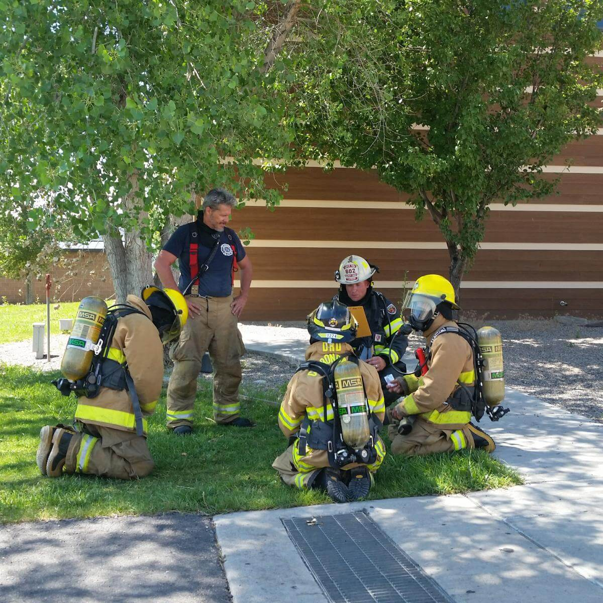 Aspen Firefighters training